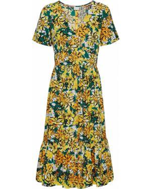 Летнее платье со складками с оборками Bonprix