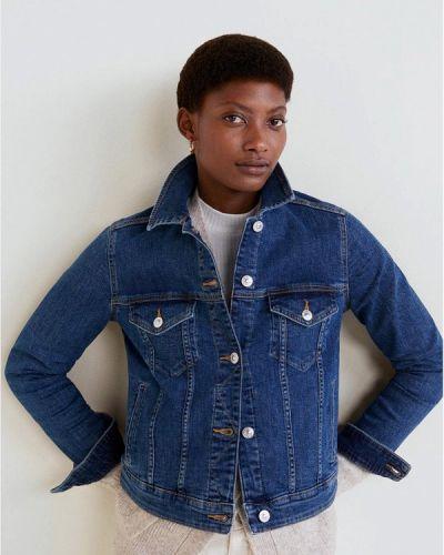Джинсовая куртка весенняя синий Mango