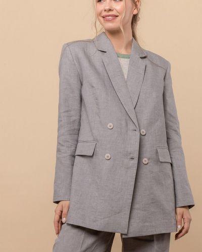 Льняной пиджак - серый Mr520