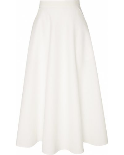 С завышенной талией бежевая юбка миди со складками Chapurin