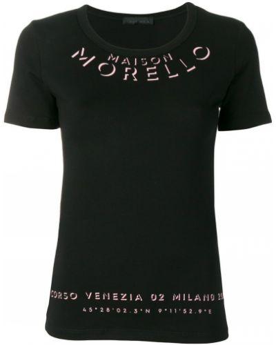 Футболка черная прямая Frankie Morello
