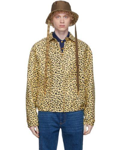 Brązowy kapelusz pikowany z nylonu Gucci