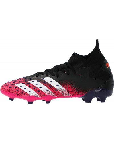 Текстильные черные футбольные бутсы Adidas