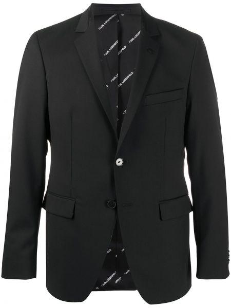 Blezer z podszewką czarny Karl Lagerfeld