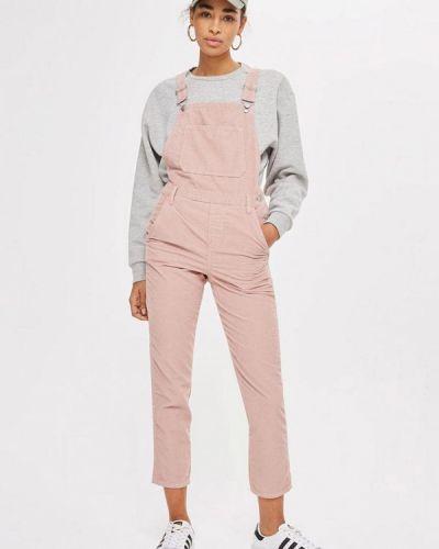 Розовый джинсовый комбинезон Topshop