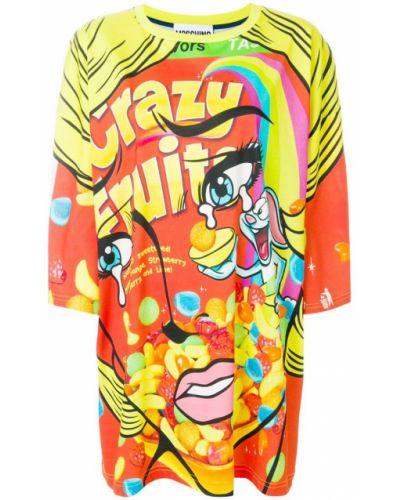 Платье мини футболка с вырезом Moschino