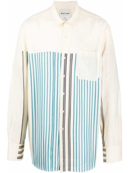 Biała klasyczna koszula bawełniana z długimi rękawami Botter