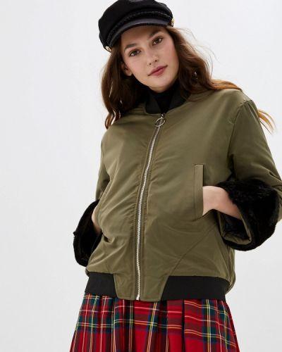Утепленная куртка осенняя зеленая You&you