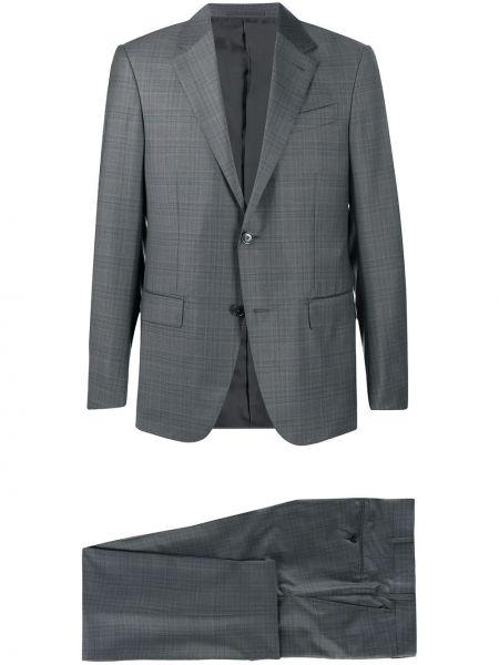 Серый костюмный костюм на пуговицах с подкладкой Ermenegildo Zegna