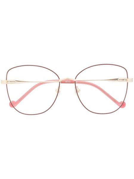 Prosto różowy oprawka do okularów metal plac Liu Jo