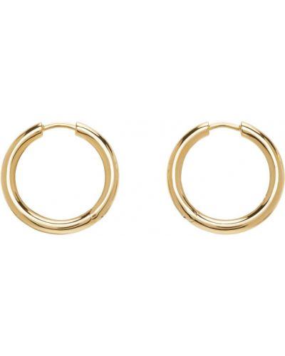 Серьги-гвоздики золотые позолоченные Tom Wood