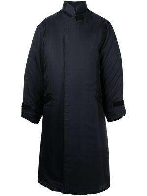 Czarny płaszcz ze stójką Yohji Yamamoto