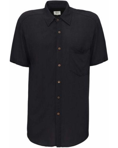 Klasyczna czarna klasyczna koszula krótki rękaw The People Vs