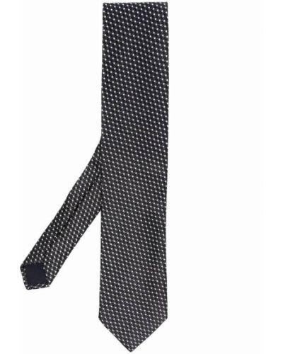 Черный галстук с вышивкой Corneliani