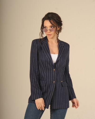 Льняной пиджак - синий Jaded London