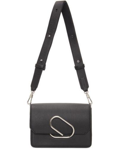 Skórzany czarny torba kosmetyczna z kieszeniami z gniazdem 3.1 Phillip Lim