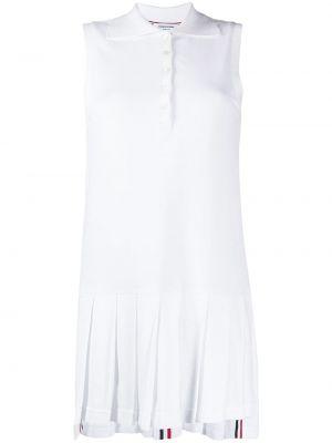 Теннисное плиссированное с заниженной талией платье на пуговицах Thom Browne