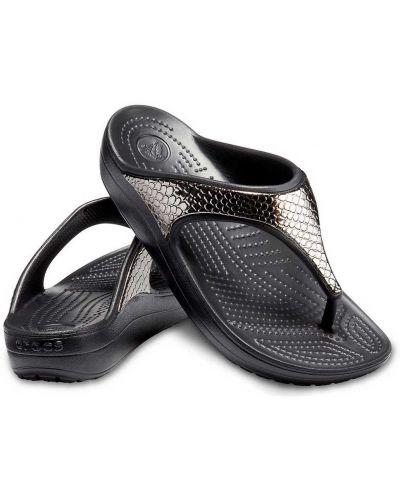 Сланцы на платформе - черные Crocs