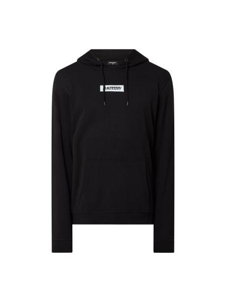 Czarna bluza z kapturem bawełniana Raizzed