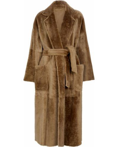 Коричневое теплое пальто Max Mara