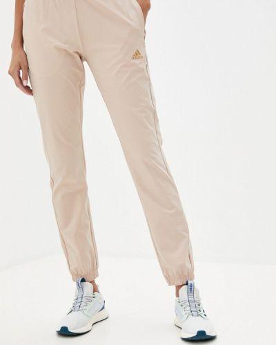 Спортивные бежевые спортивные брюки Adidas
