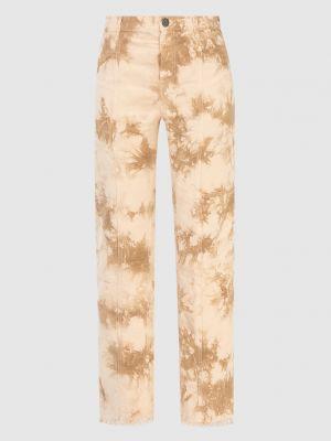 Бежевые укороченные брюки Twin-set