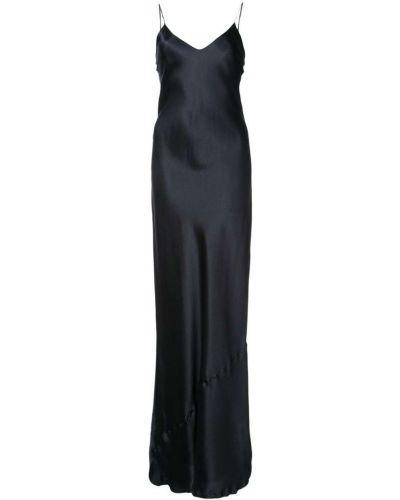 Вечернее платье с V-образным вырезом на бретелях приталенное Nili Lotan
