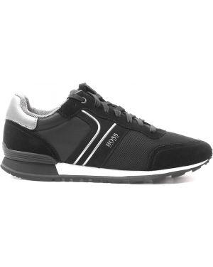 Кожаные кроссовки замшевые на шнуровке Hugo Boss