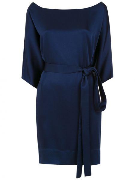 С рукавами синее платье с рукавами из вискозы Gloria Coelho