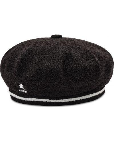 Czarna czapka z nylonu Kangol