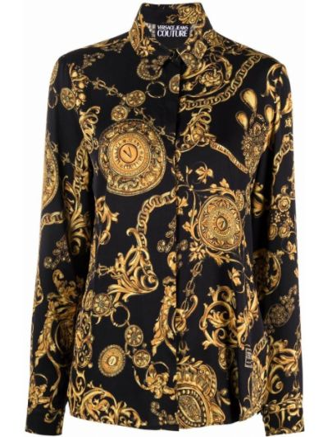 Koszula jeansowa - czarna Versace Jeans Couture