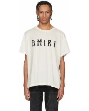 Koszula krótkie z krótkim rękawem z kołnierzem z logo Amiri