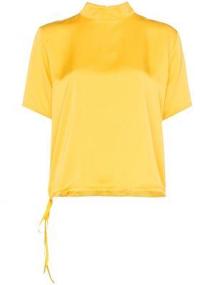 Желтый топ с помпоном Mira Mikati