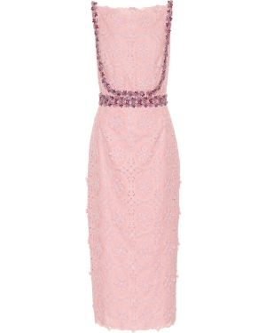 Платье мини розовое миди Costarellos
