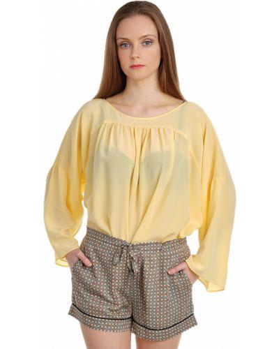 Блузка шелковая желтый Paul & Joe