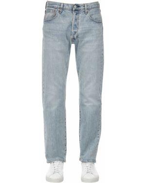 Niebieskie jeansy bawełniane perły Levi's Red Tab