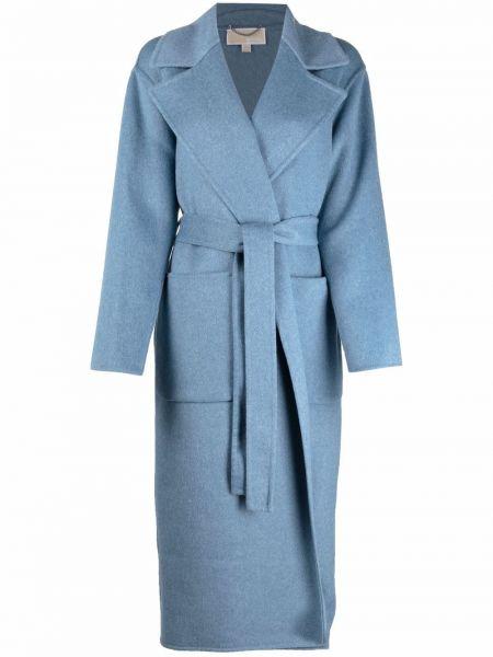 Синее шерстяное пальто Michael Michael Kors