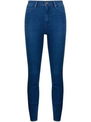 Облегающие зауженные джинсы на молнии классические Paige