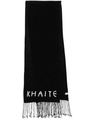 Czarny szalik Khaite