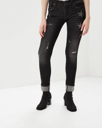 Черные джинсы рваные Gaudi