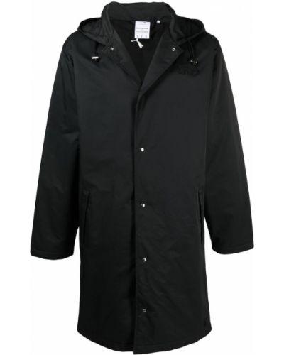 Czarny płaszcz przeciwdeszczowy z kapturem z długimi rękawami Puma