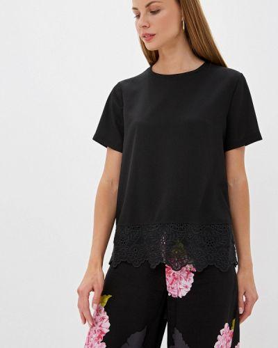 Блузка с коротким рукавом черная French Connection