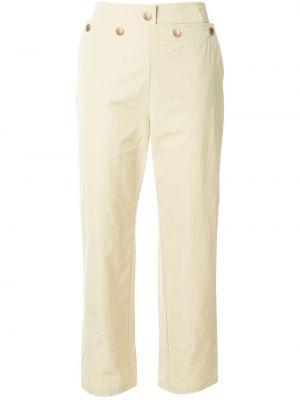 Бежевые укороченные брюки с воротником с завязками с поясом See By Chloé