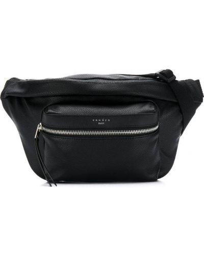 Поясная сумка на молнии черная Sandro Paris