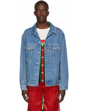 Джинсовая куртка длинная льняная Gucci