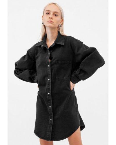 Черное джинсовое платье Dorogobogato
