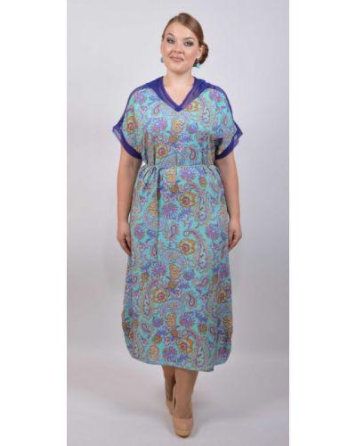 Летнее платье с капюшоном из штапеля Avigal (avrora)