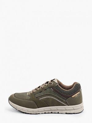 Зеленые текстильные кроссовки X-plode