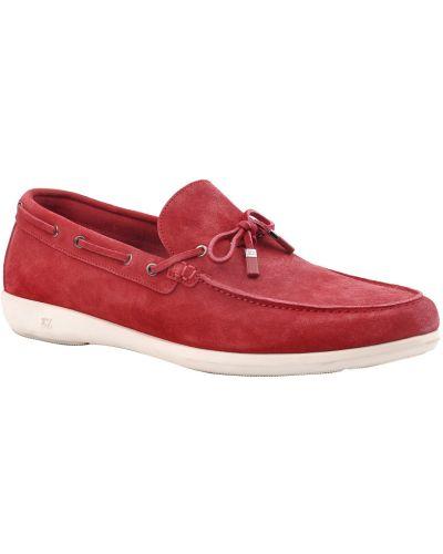 Красные туфли замшевые Ermenegildo Zegna