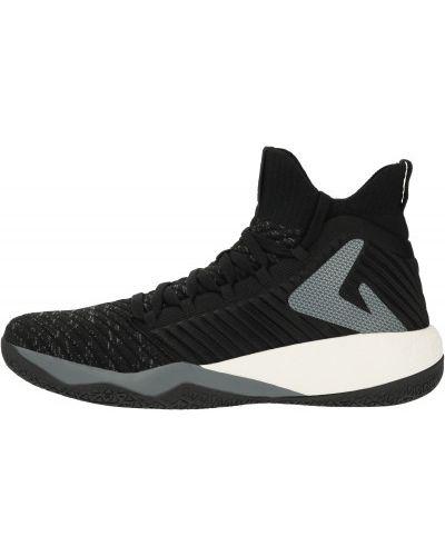Баскетбольные черные высокие кроссовки на шнуровке Demix